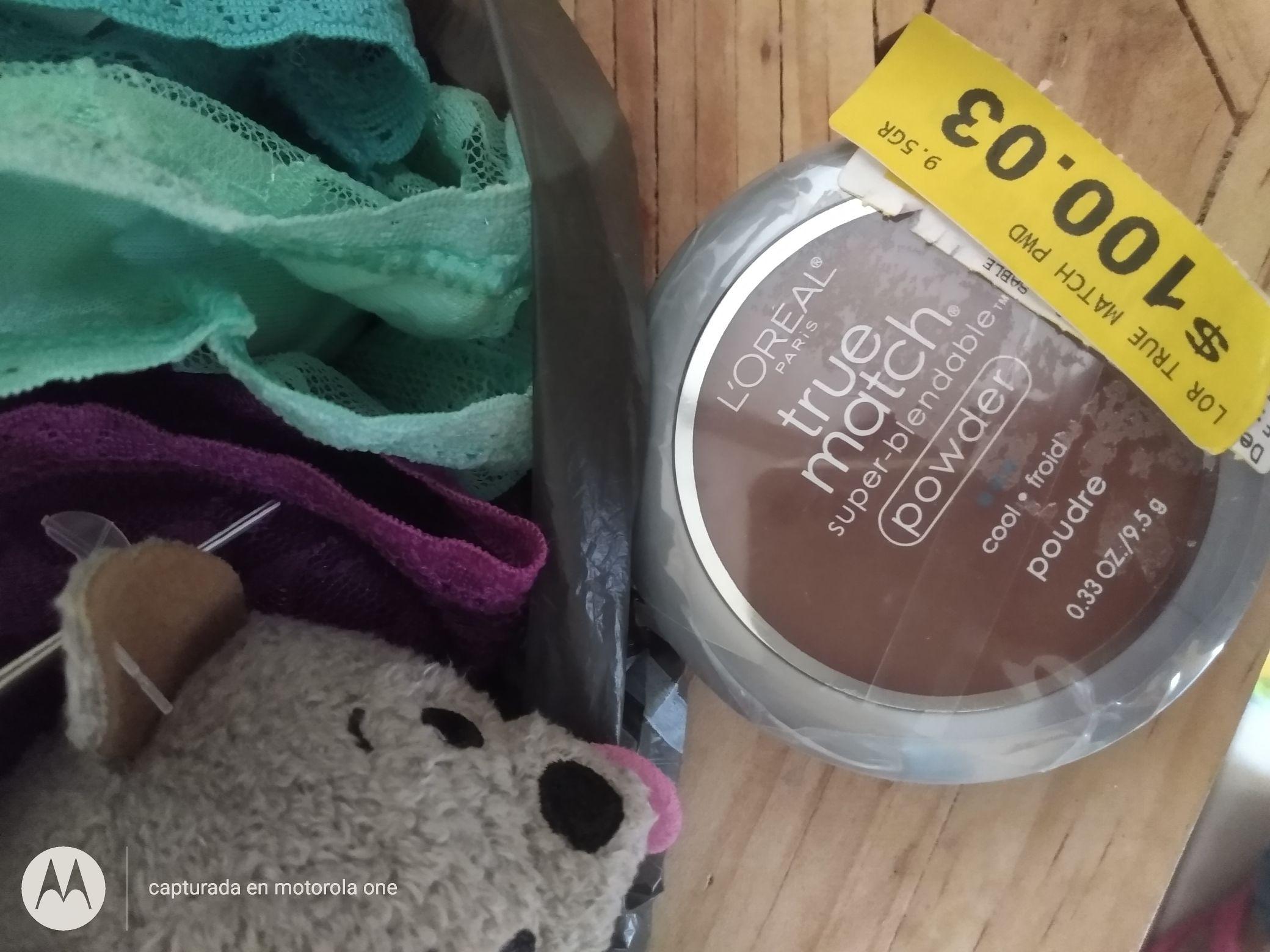 Walmart: Polvo True Match 50.02, más calzones, bolsas, ropa etc