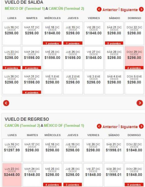 VivaAerobus: hasta 90% de descuento en vuelos. Ej: DF – Cancún en diciembre $596 redondo
