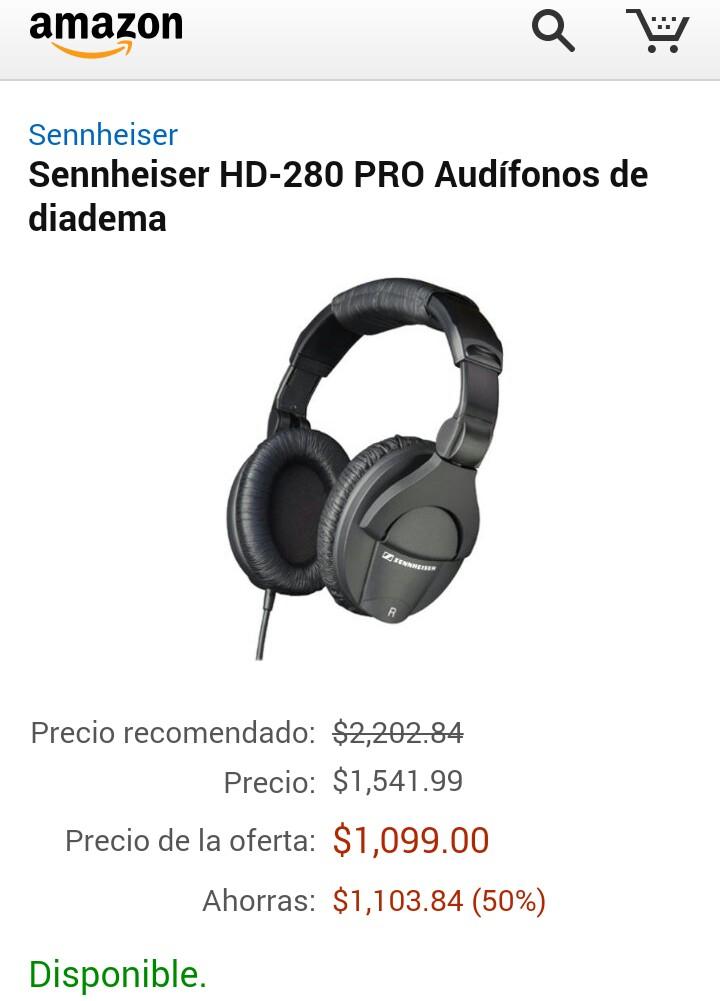 Ofertas El Buen Fin en Amazon audifonos sennheiser a mitad de precio
