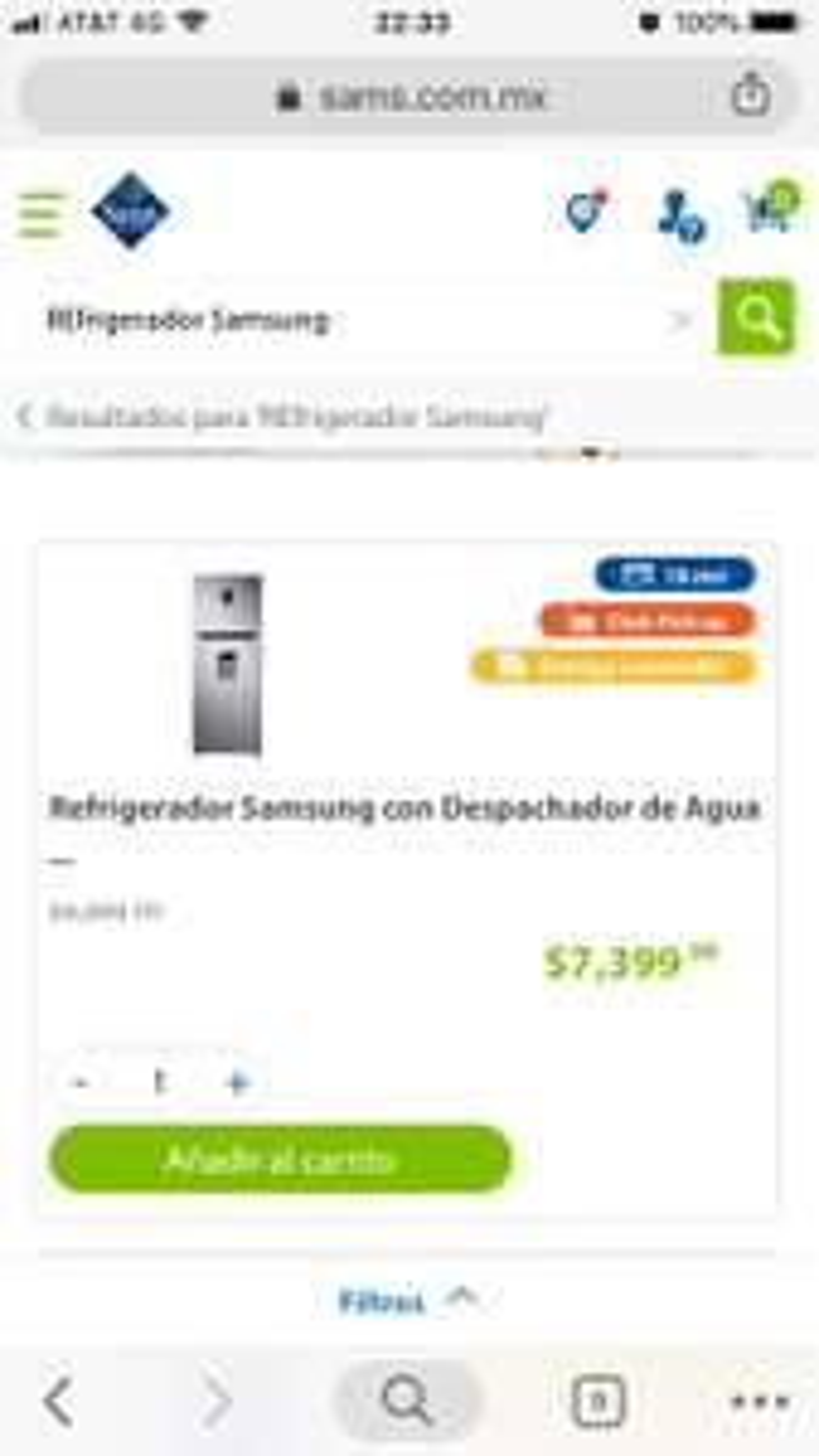 Sam's Club: Refrigerador Samsung 13 pies