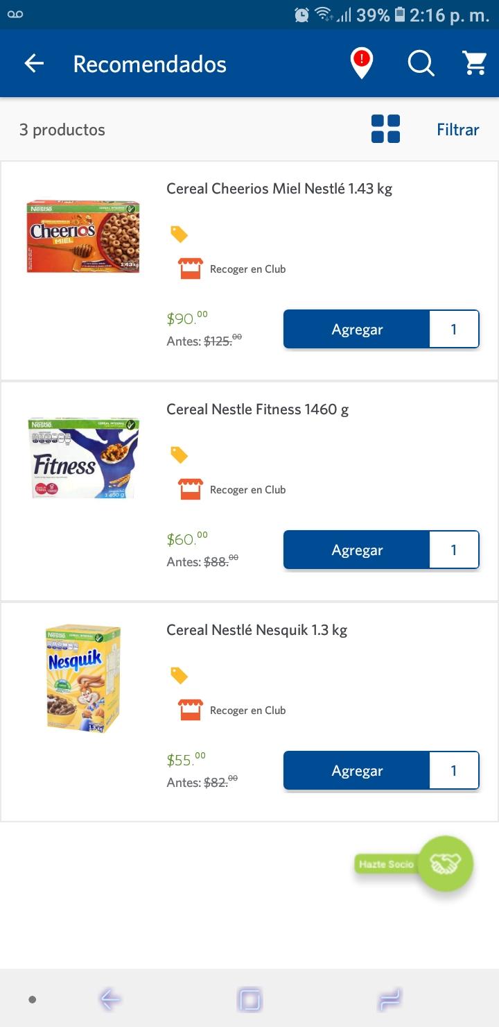Sam's Club: Cereal Nestlé Nesquik 1.3 kg