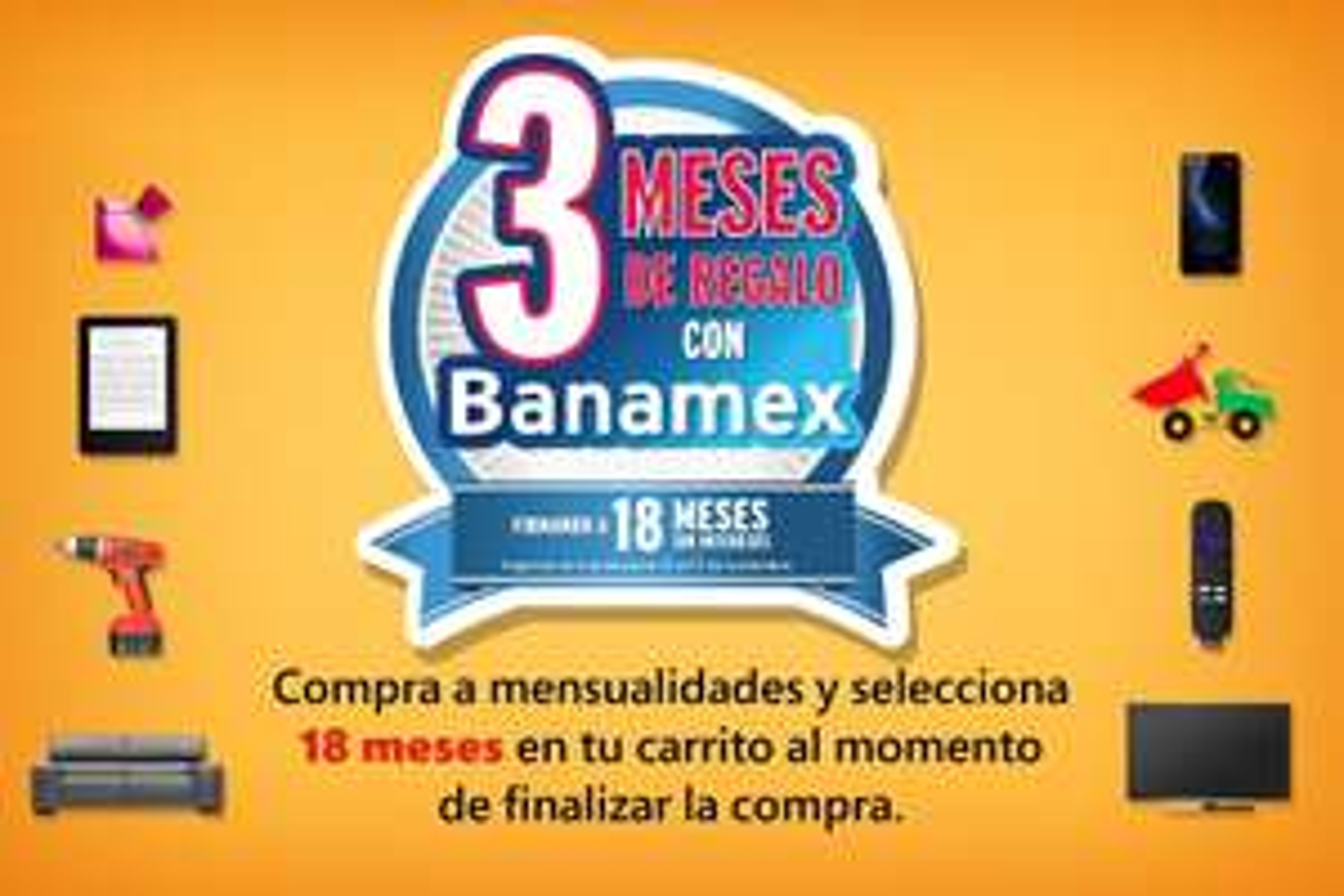 Amazon Mx: Sólo HOY 18 MSI + 3 Bonifación con Banamex + Envío Gratis