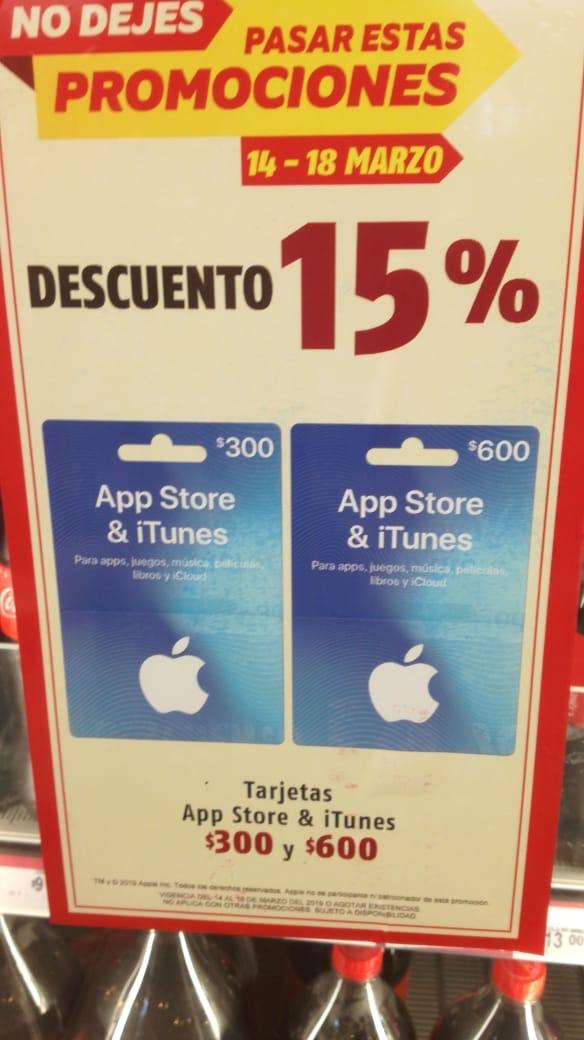 OXXO: Tarjetas iTunes y AppStore con 28% de descuento ($300 y $600)