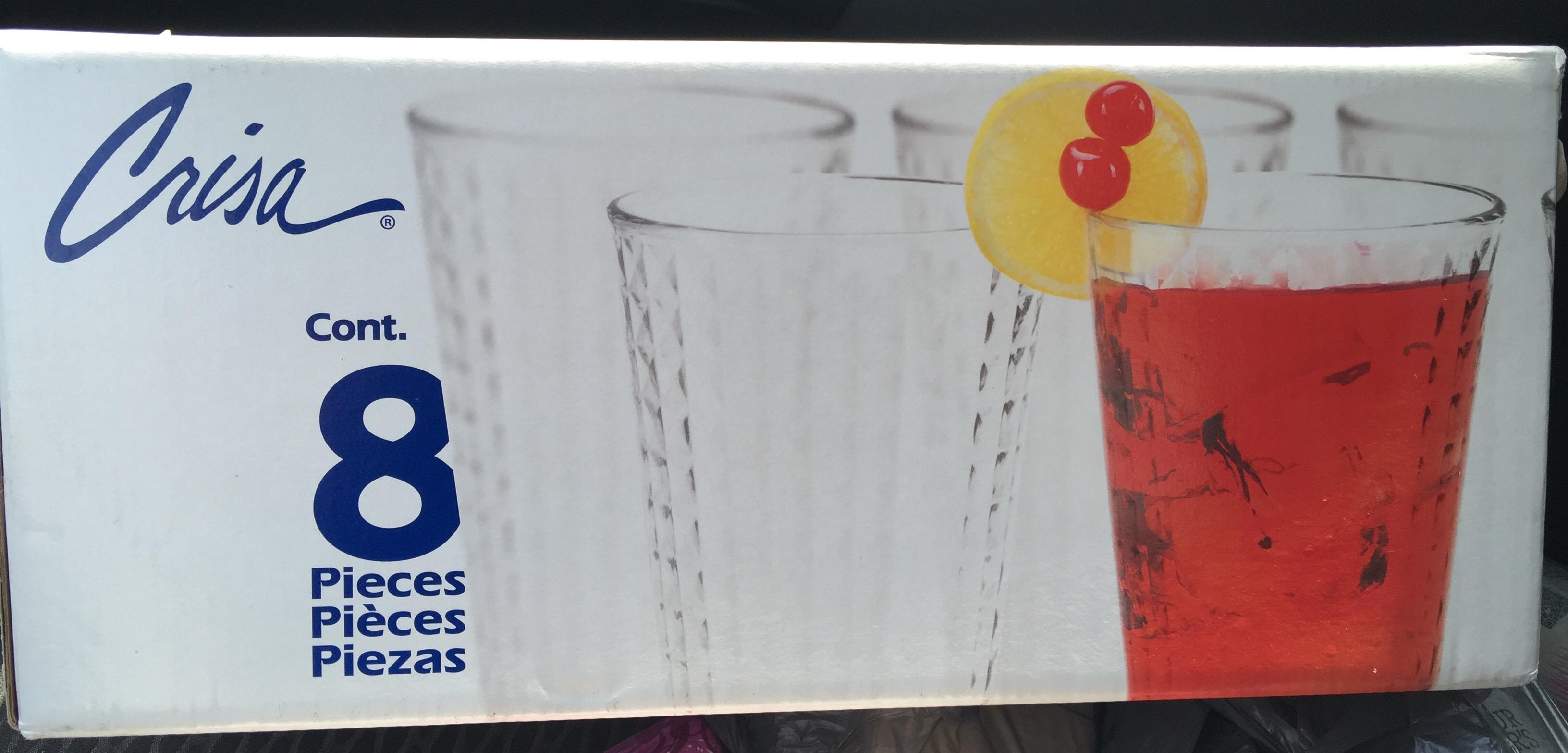 Bodega Aurrerá : liquidación de set de 8 vasos Crisa a 7.04