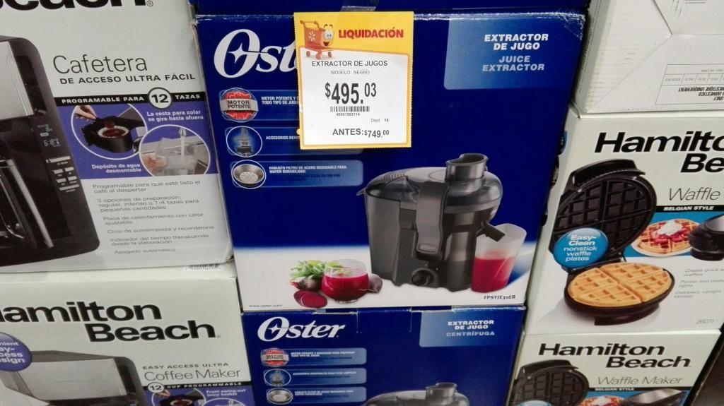 """Walmart: Extractor de jugos Oster, pantalla Samsung 24"""" y más"""