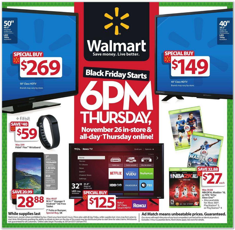 Walmart USA Folleto Black Friday 2015