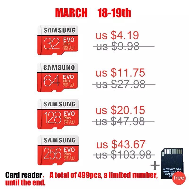 AliExpress: Tarjeta MicroSD Samsung (32GB, 64GB y 128GB)