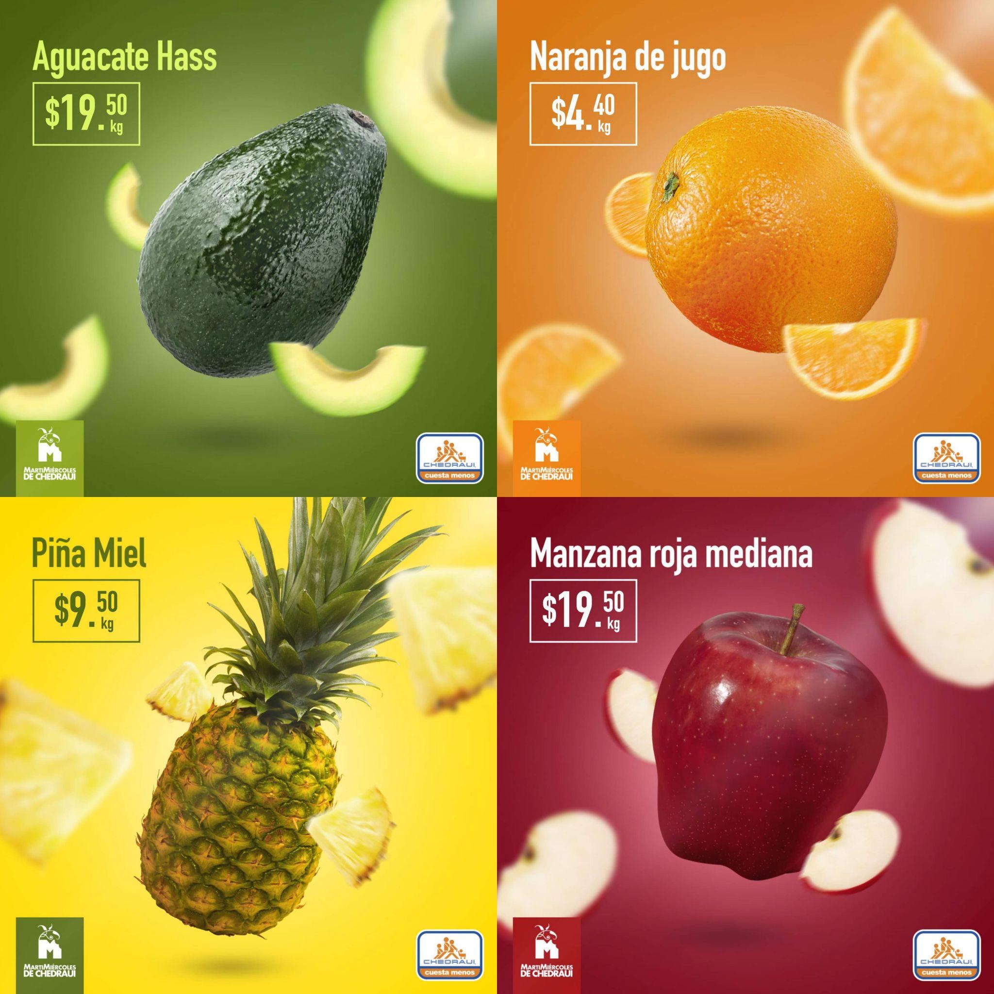 Chedraui: Martimiercoles de Frutas y Verduras 19 y 20 de Marzo