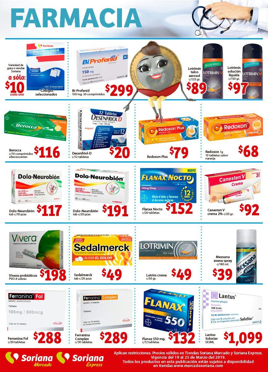 Soriana Mercado y Express: Ofertas en Farmacia del Martes 19 al Lunes 25 de Marzo
