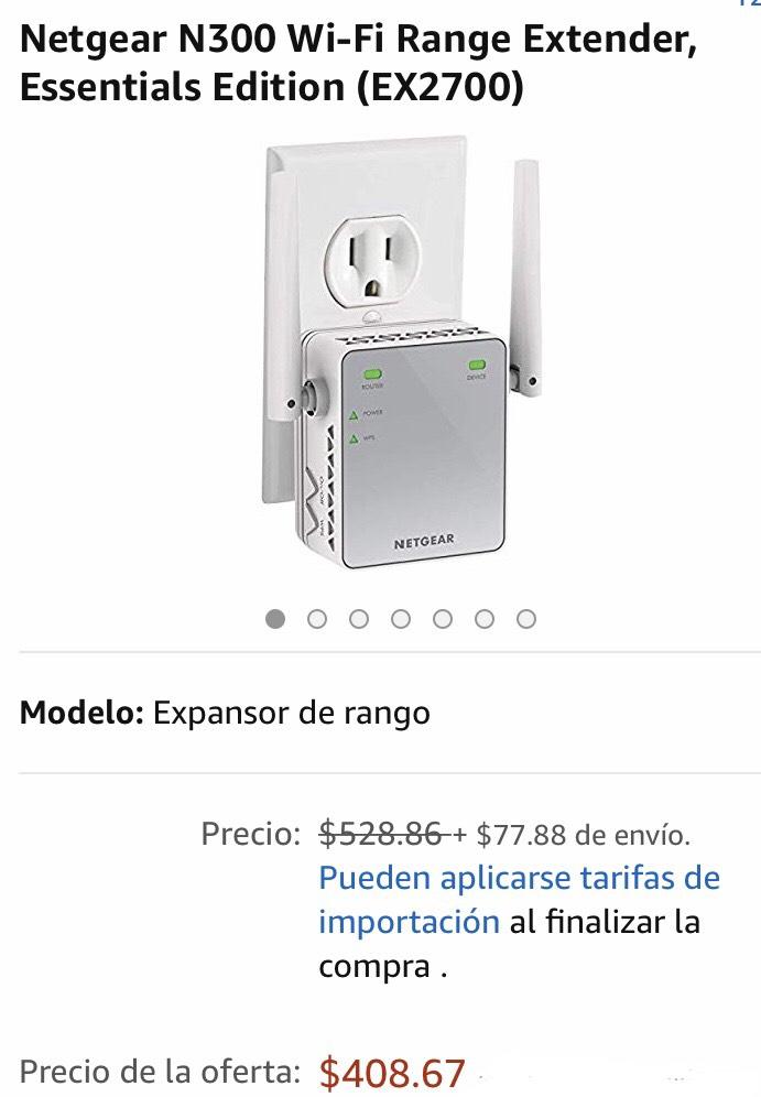 Amazon: Netgear Wifi Extender (oferta relámpago)