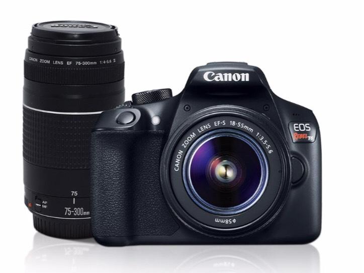 Walmart: Cámara Réflex Canon EOS Rebel T6 con 2 lentes