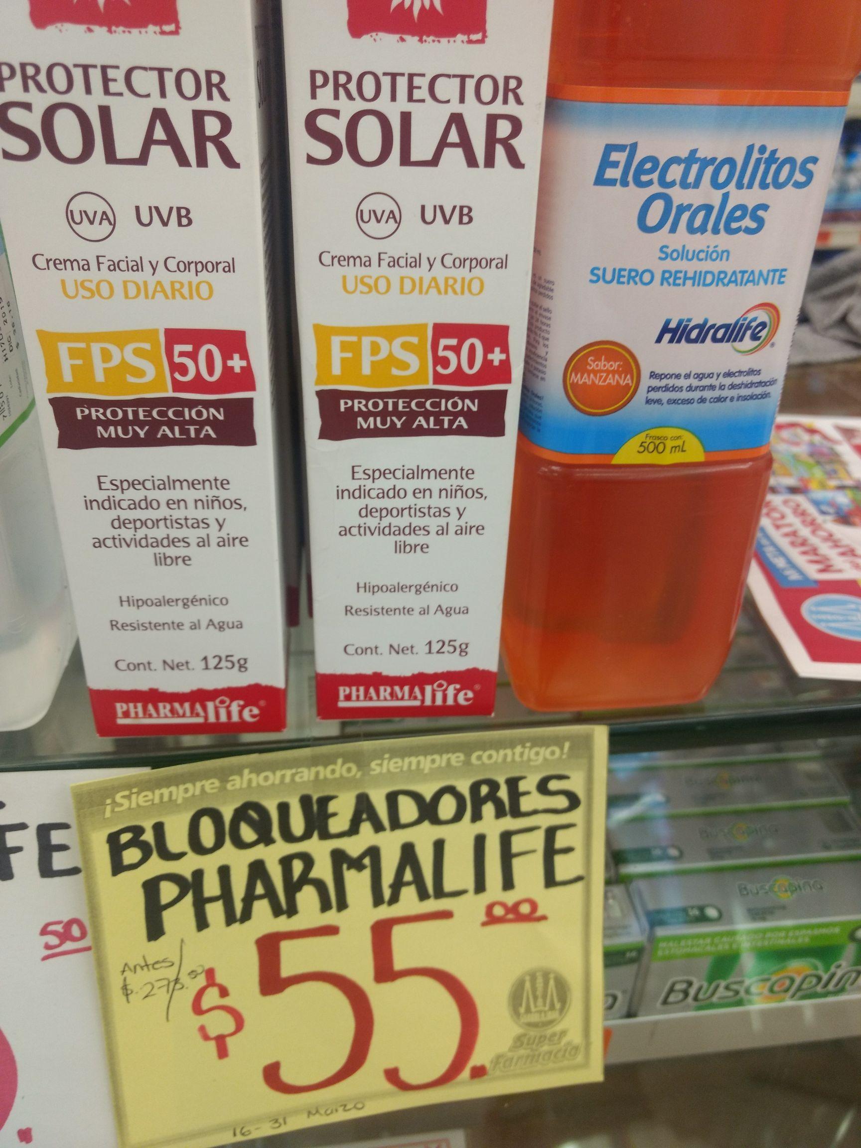 Farmacia Guadalajara bloqueador y pasta dental