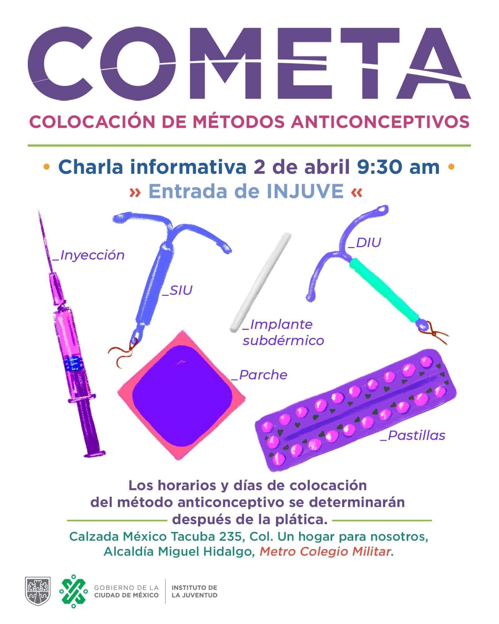 Colocación Gratuita de métodos anticonceptivos
