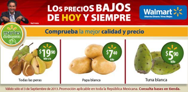 Martes de frescura Walmart septiembre 3: todas las peras $19.90 el kilo y más