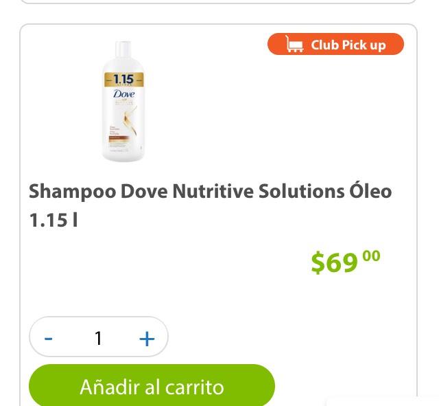 Sam's Club: shampoo dove de 1.15 L