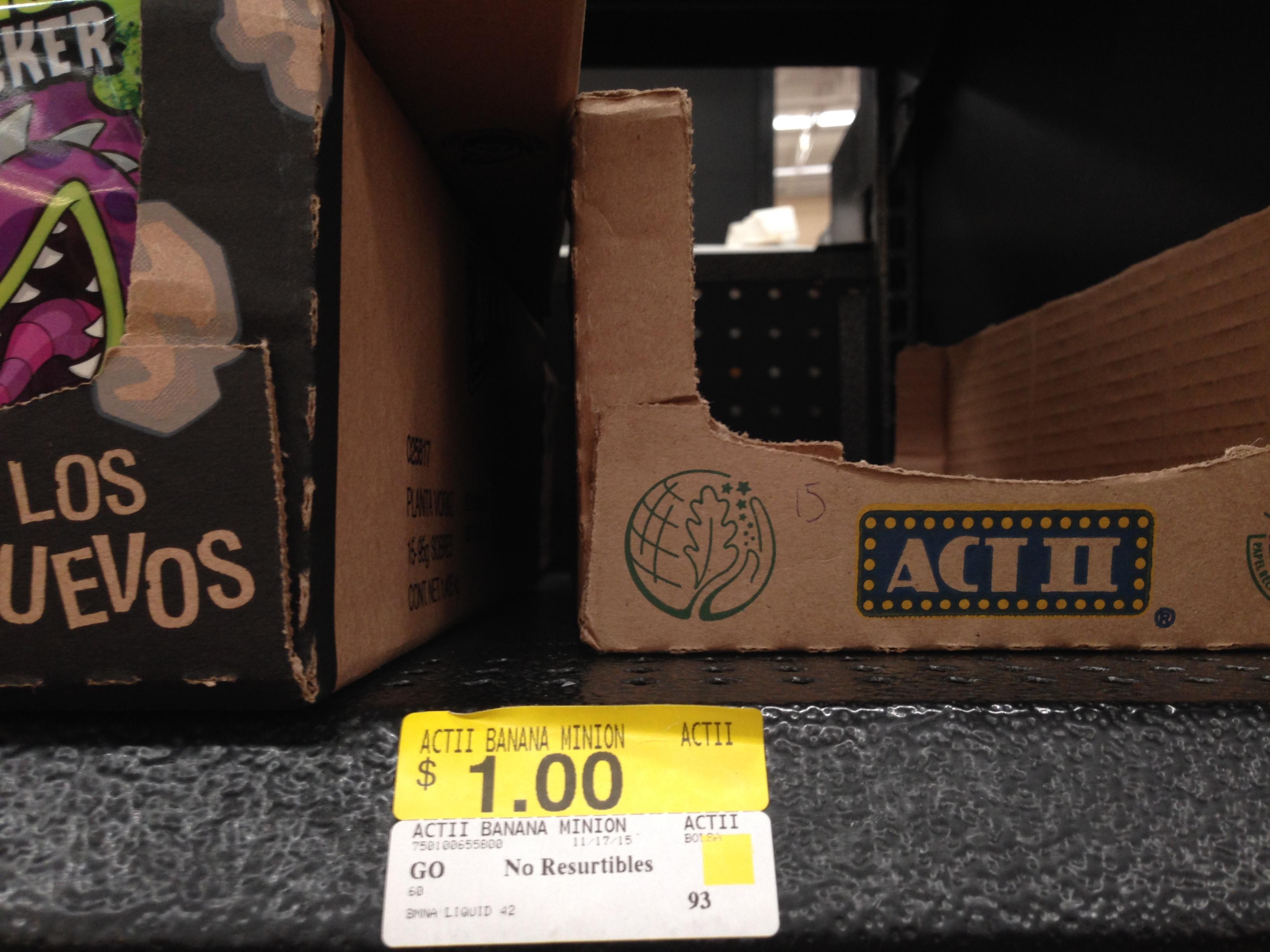 Walmart: palomitas Act II Minions a $1.00
