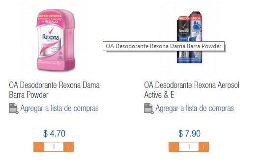 Desodorante Rexona Chedraui en linea -Cuernavaca