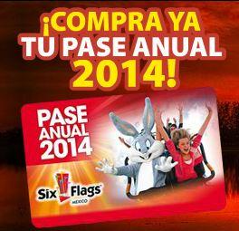 Six Flags: pase anual 2014 a $509 o menos (incluye resto de 2013)