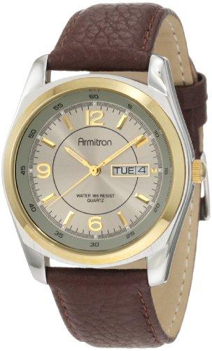 Amazon MX: Armitron Reloj 20/1925GYBN con correa de cuero café, para hombre (Vendido por Amazon USA)