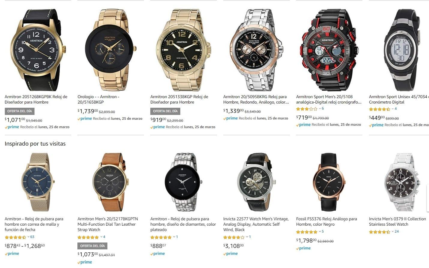 Amazon MX; hasta 60% de descuento en relojes Armitron
