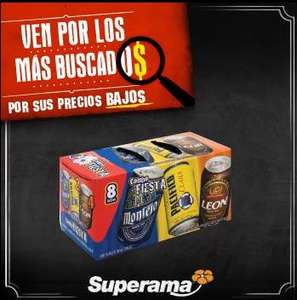 Superama: paquete de cerveza Party Pack Grupo Modelo 2x$100