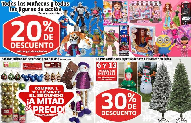 Soriana: 30% en árboles de Navidad artificiales, 20% en muñecas y figuras de acción y más