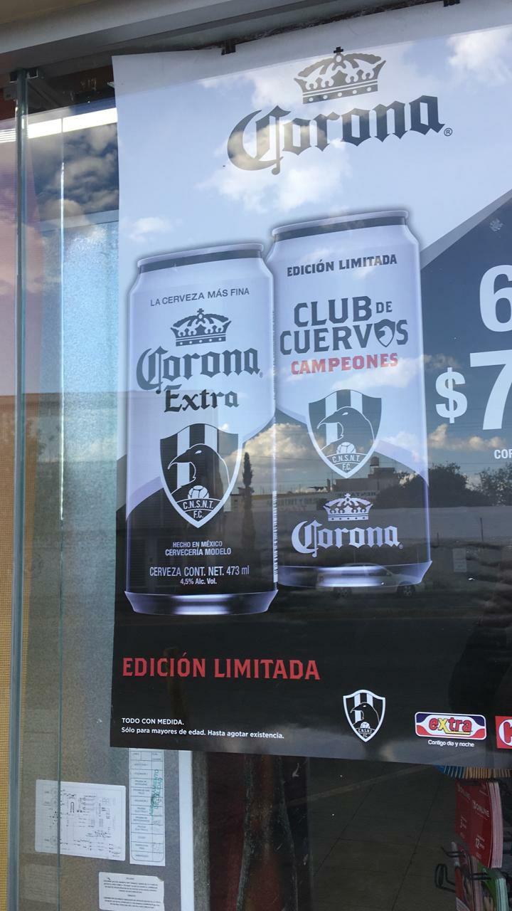 """Tienda Extra y Círculo K: Cerveza Corona y Edición Limitada """"Club de Cuervos"""""""