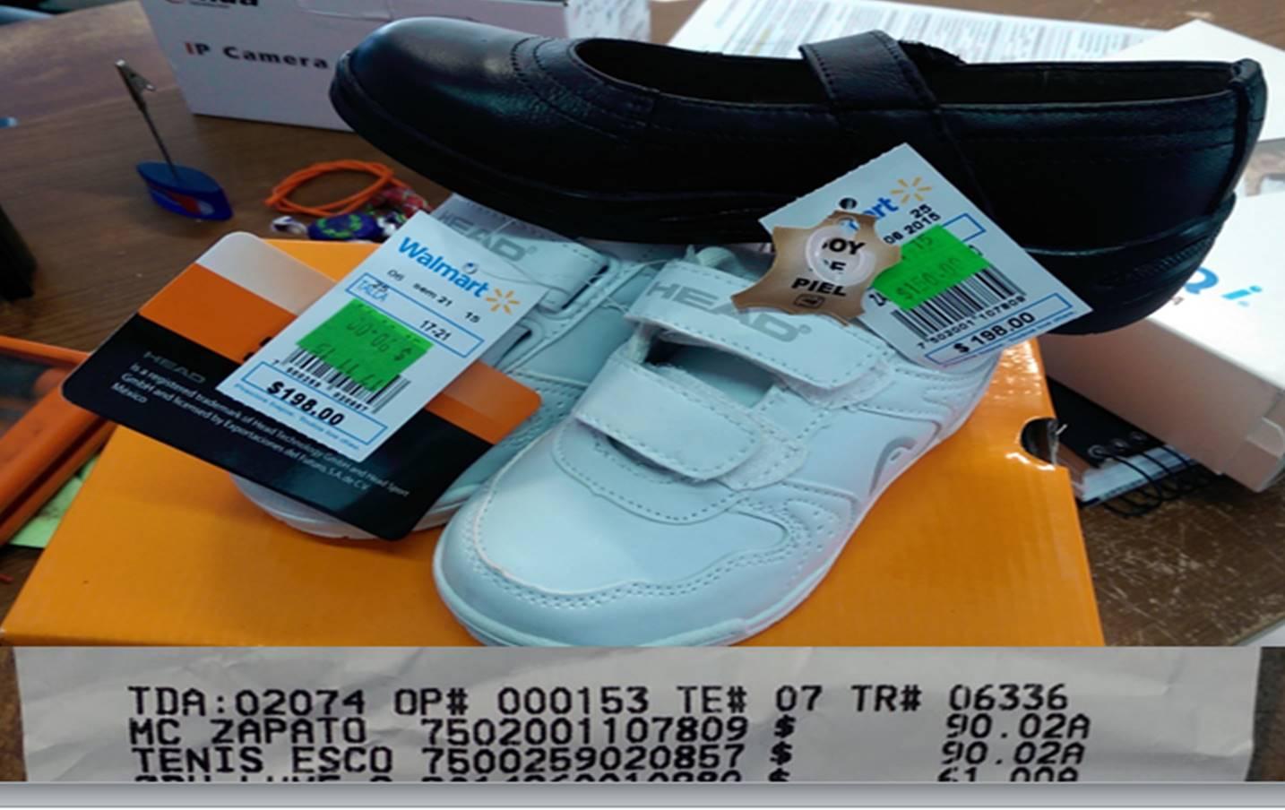 Walmart SLP: Calzado para niños $90.02