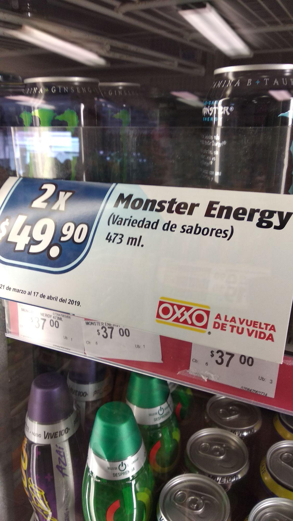 Oxxo: 2 MONSTER POR $50