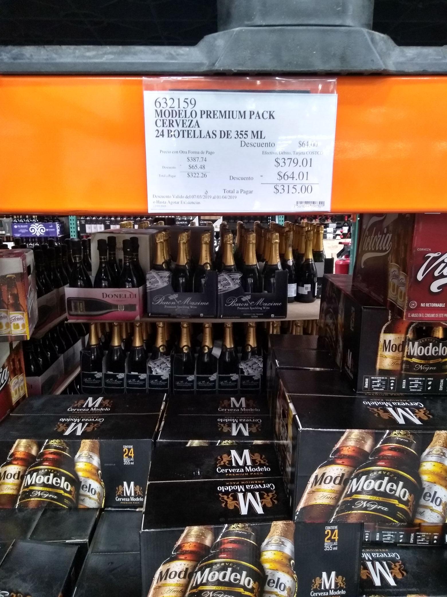 Costco: Cerveza Modelo Premium Pack 24 piezas