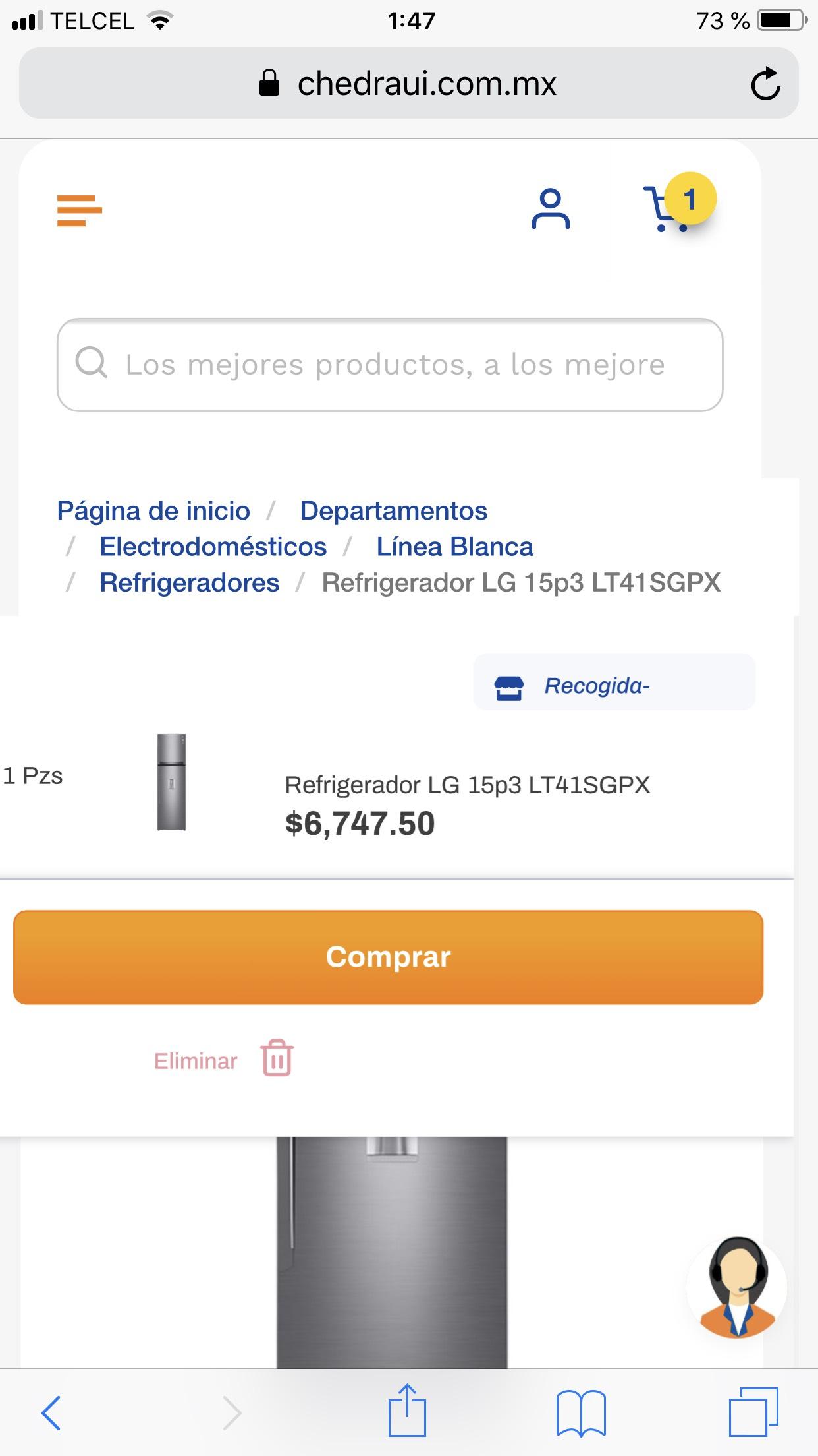 Chedraui: Refrigerador LG de 15 p3