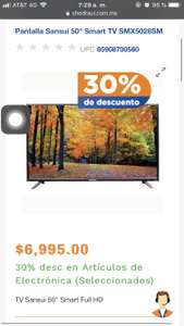 "Chedraui: Pantalla Samsui 50"" smart tv"