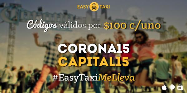 Easy Taxi: cupón de $100 de descuento