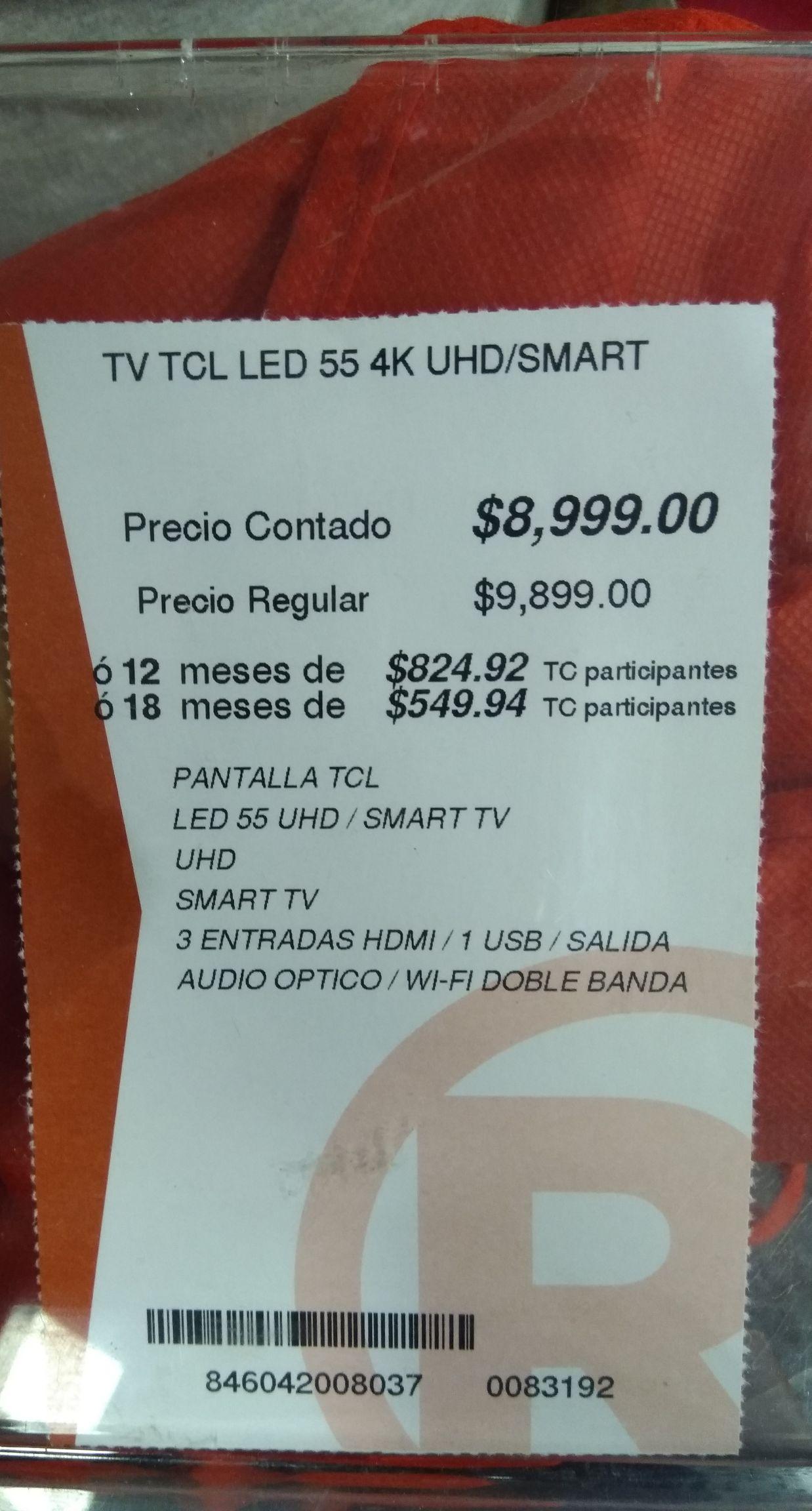 Radioshack: TCL 55 Roku 4k 120  55S405 + luces Bluetooth de regalo