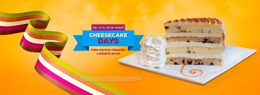 The cheese cake factory: rebanadas a mitad de precio