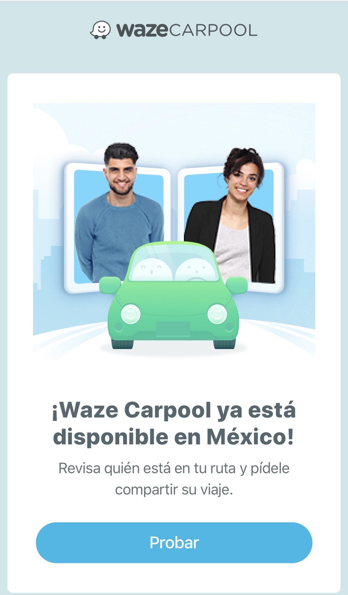 Waze Carpool: Viajes compartidos desde $10