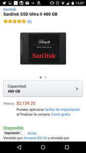 AMAZON: SanDisk SSD Ultra II 480 GB