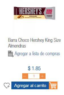 Chedraui En Linea: Chocolate Hershey's King Size $1.85