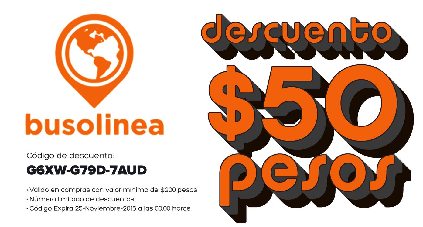 Busolinea: Descuento para la compra de boletos de autobus por $50 pesos
