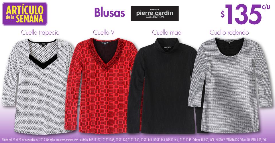 Suburbia: variedad de blusas de mujer Pierre Cardin a $135