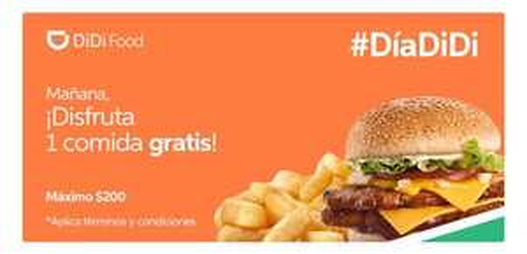 DiDi Food: $200 GRATIS