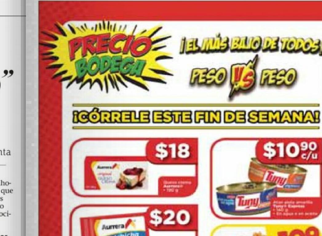 Bodega Aurrerá: lata de atun tuny a $10.90