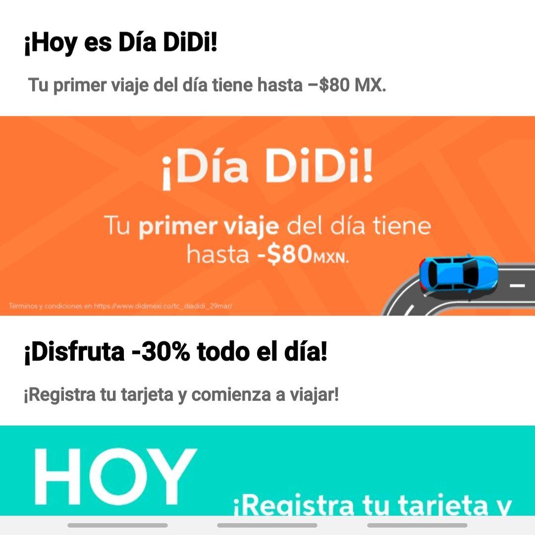 Didi puebla primer viaje del dia hasta -80. ( Todos los usuarios en Puebla).