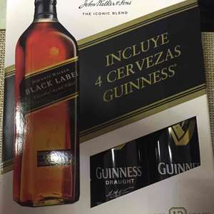 Costco: Johnnie Walker Black Label de 1 litro con 4 cervezas Guinness de 440 ml de regalo en $617
