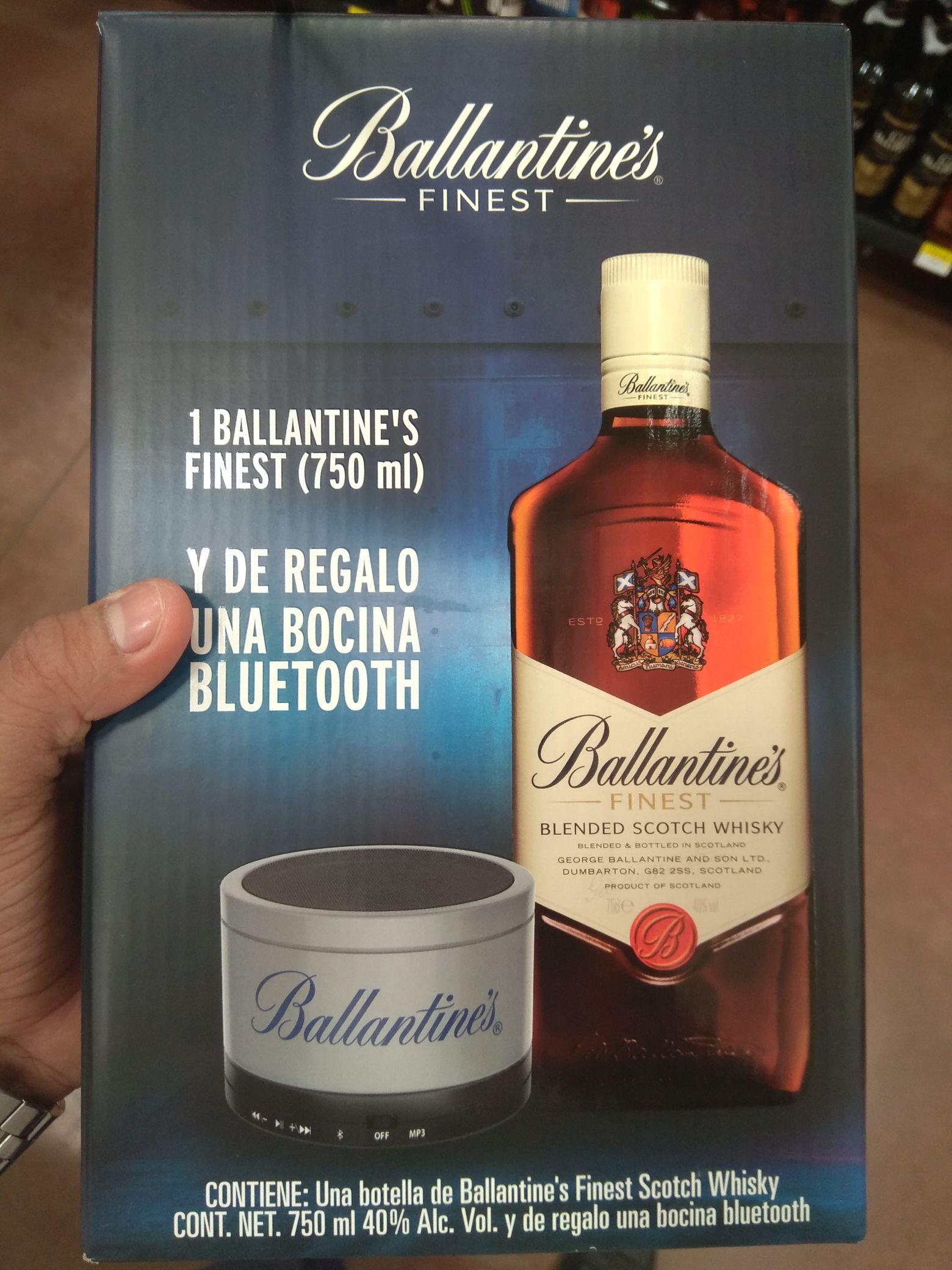 Walmart: Whisky Ballantines con bocina bluetooth de regalo