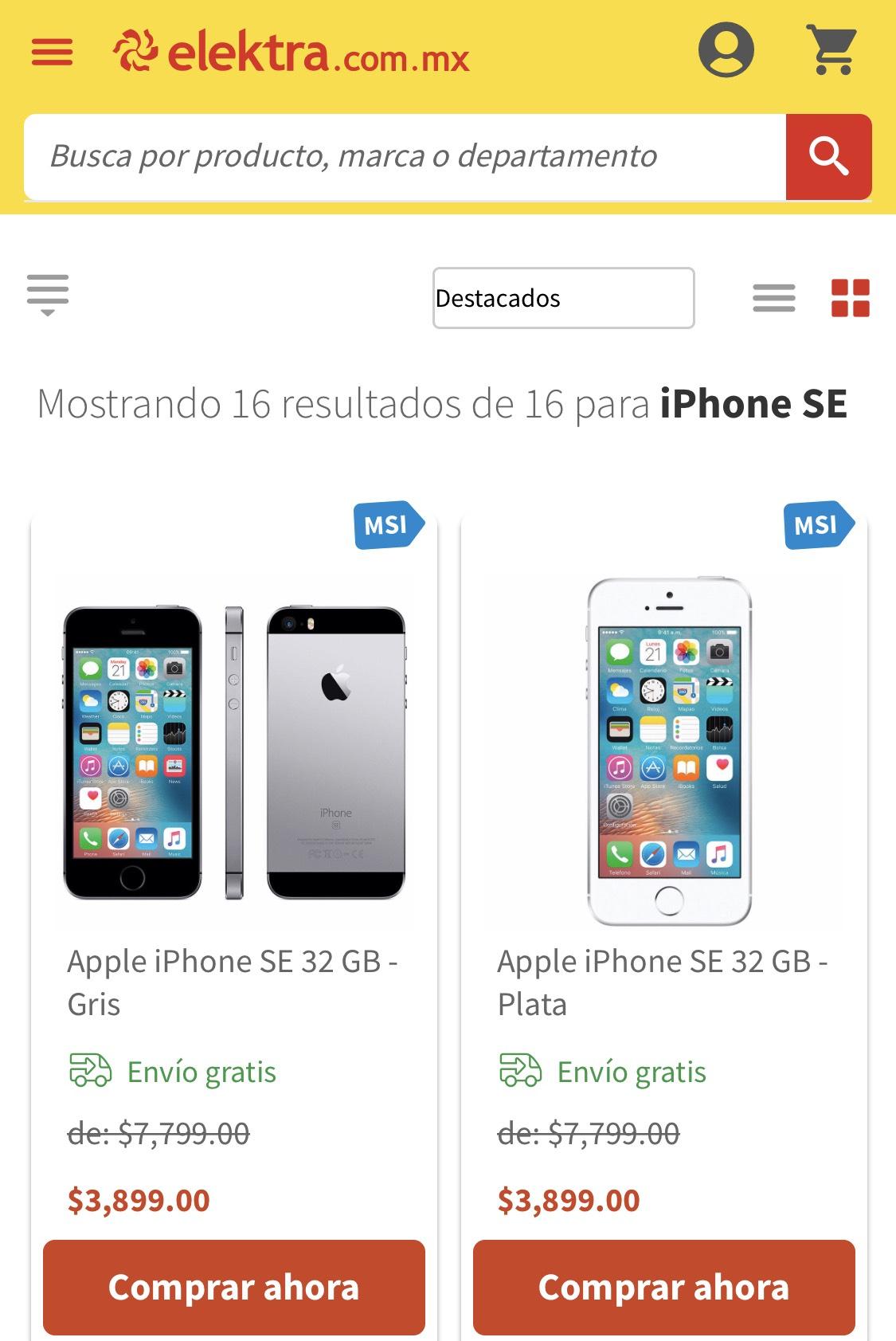 Elektra en línea: iPhone SE