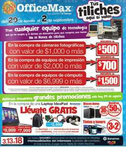 OfficeMax: promociones especiales agosto 29