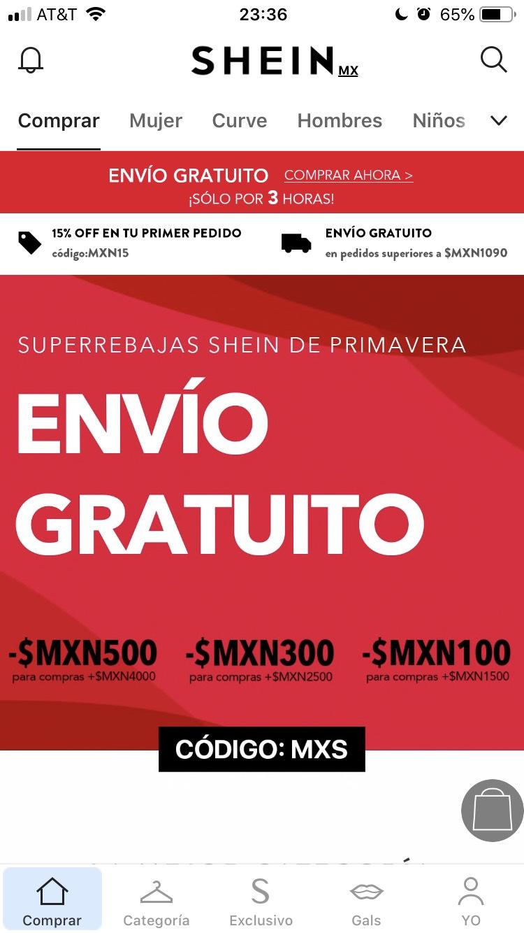 Shein: Envío gratis