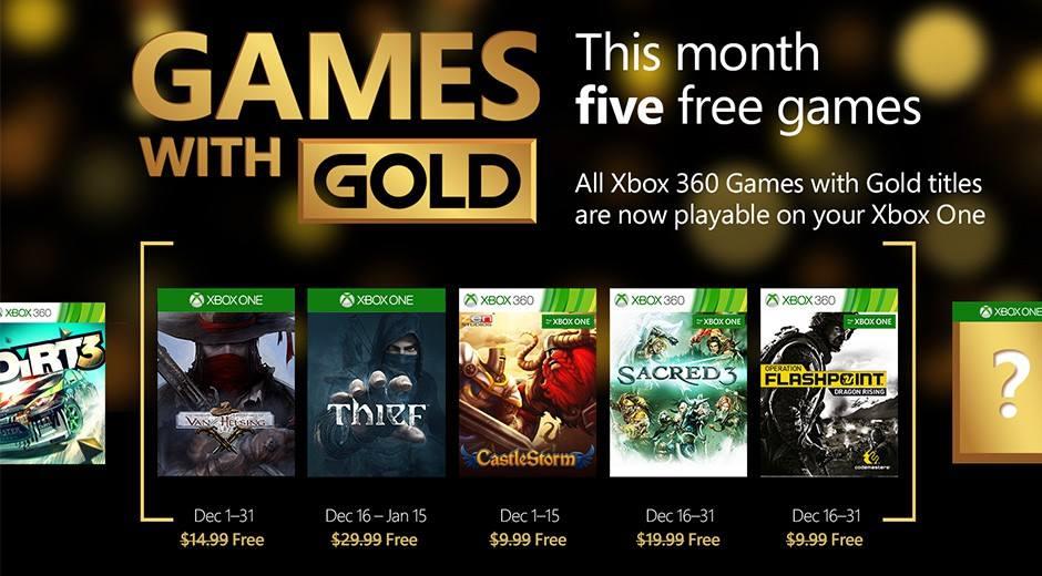 Xbox Games with gold de Diciembre
