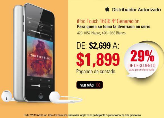 RadioShack: iPod Touch 4ta generación $1,899, 2x1 en videojuegos y más